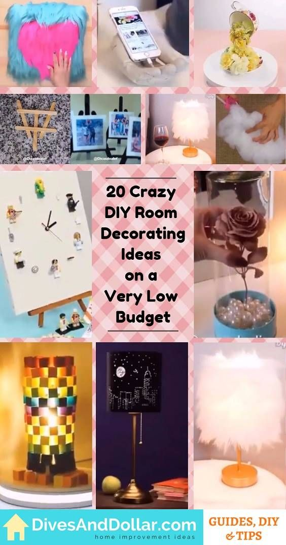 20 Crazy DIY Room Decorating Ideas on a Very Low Budget