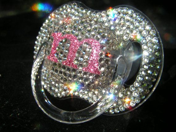 35492c903f Bling initial pacifier. GlamLuxePartyDecor: FREE SHIPPING! Creative ...