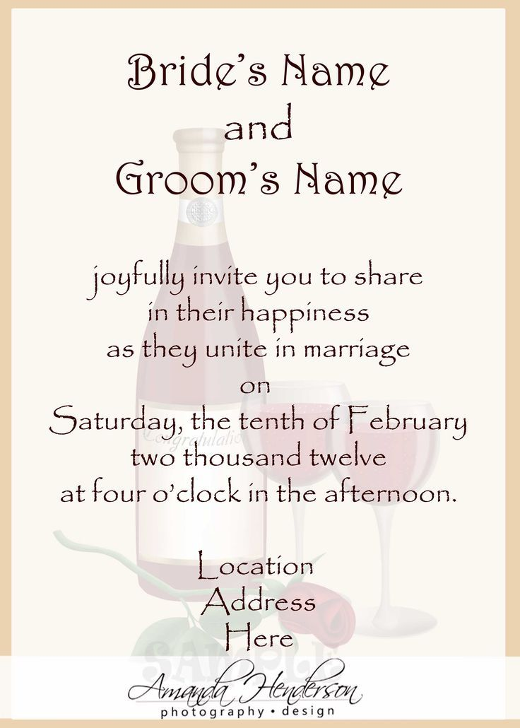 Wedding Wording For Invites