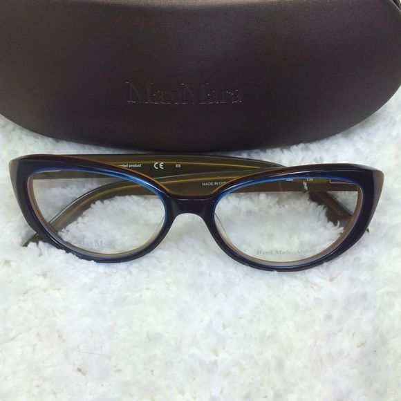 New Max Mara Cat Eye Glasses Frame With Case These Are Such Cute Frames I Bought These Intending To Put My Prescription Lenses In And Cat Eye Glasses Glasses Frames Glasses