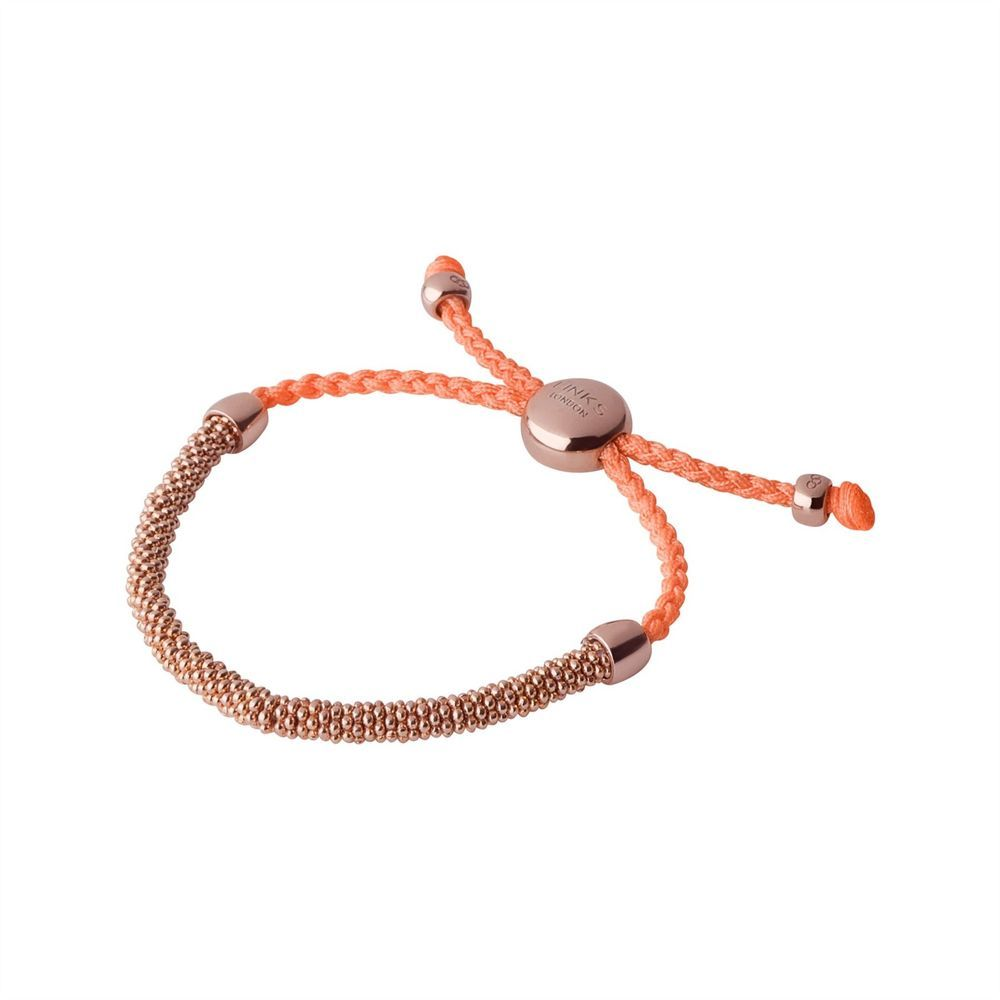 Links of London Effervescence XS Rose Gold Vermeil Coral Cord