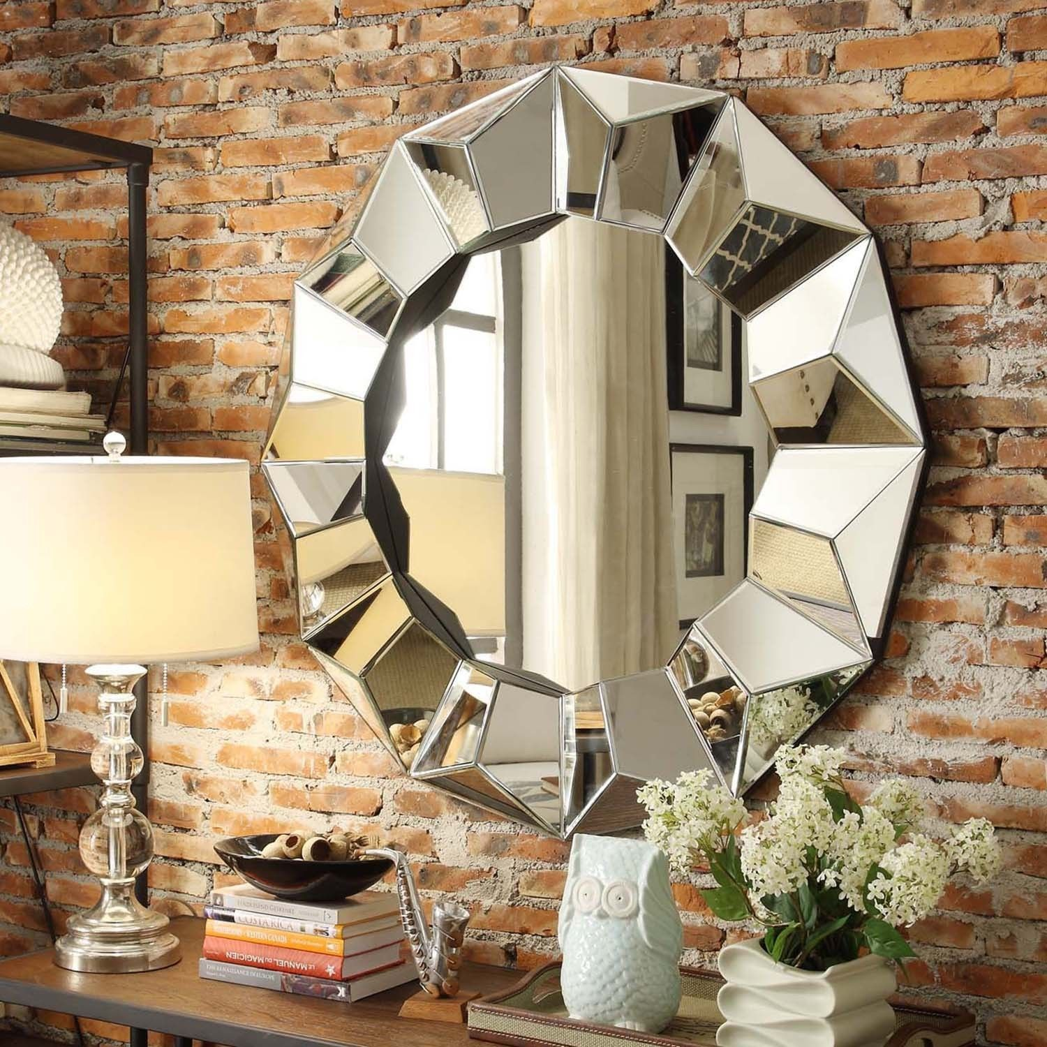Inspire Q Frisco Beveled Round Accent Wall Mirror (Beveled Round Accent Wall  Mirror),