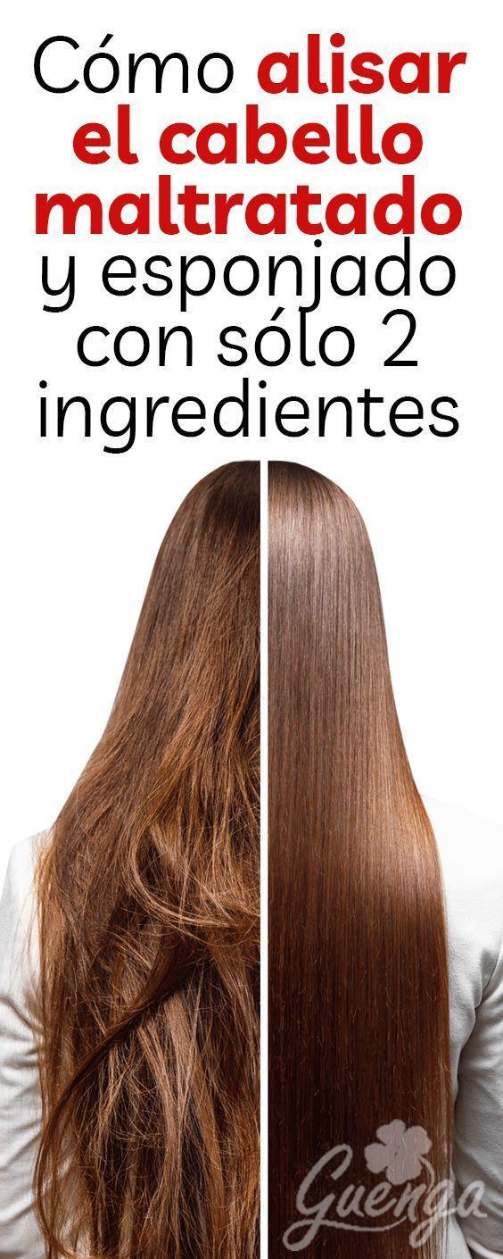 Cómo alisar el cabello maltratado y esponjado con sólo 2 ingredientes