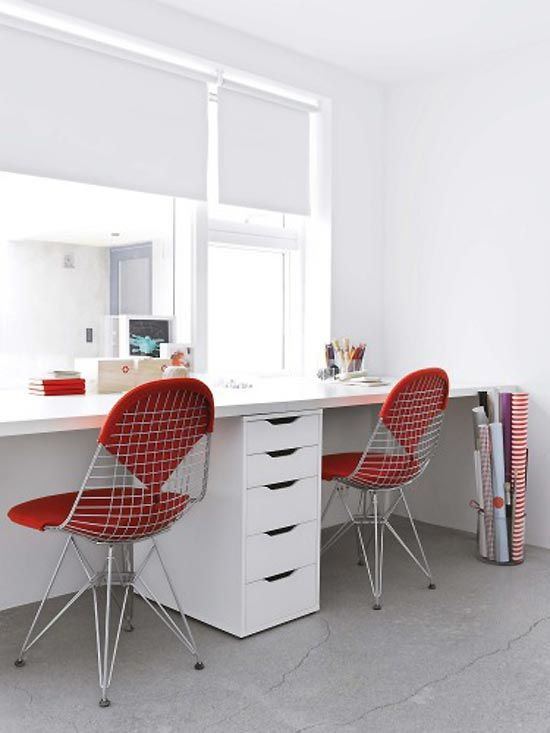 Fresh, clean, contemporary office space.