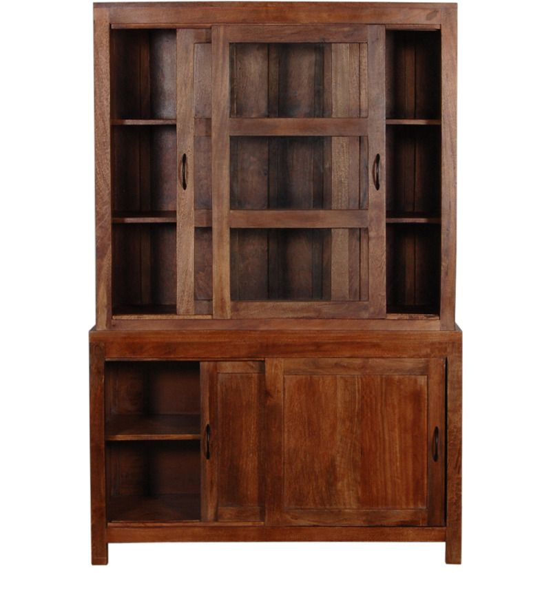 Cassia Classic Crockery Solid Wood Cabinet In Provincial Teak Finish By  Woodsworth By Woodsworth Online