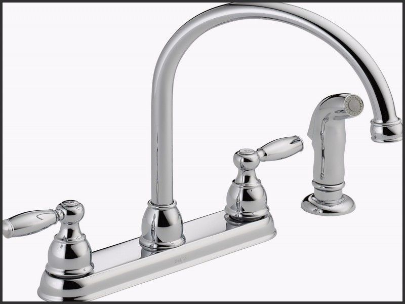 Best Of Delta Windemere 21996lf Two Handle Kitchen Faucet