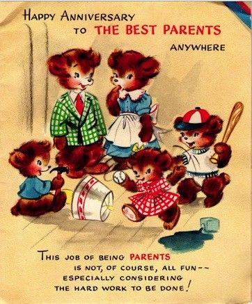 Vintage Anniversary Card Etsy Vintage Birthday Cards Anniversary Cards Vintage Greeting Cards