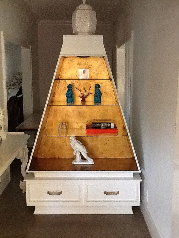Hollywood Regency Cabinet Nice Idea To Paint Interior With Gold