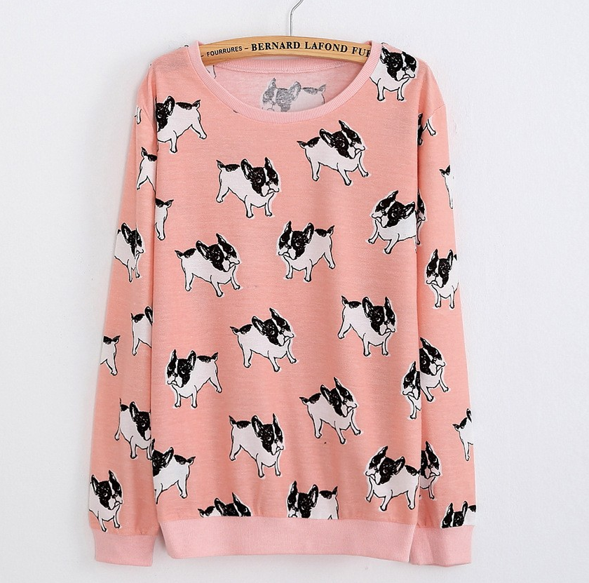 French Bulldog Pink Adorable Pullover