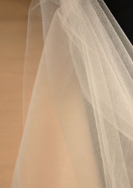 73f572e96a4283 Will look like cream when stretched out with lights  -D Fine Tulle Bolt  Beige 54