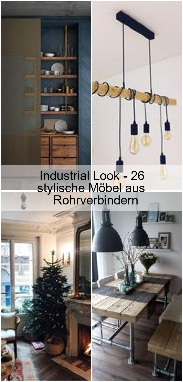 Industrial Look 26 Stylische Mobel Aus Rohrverbindern 2020