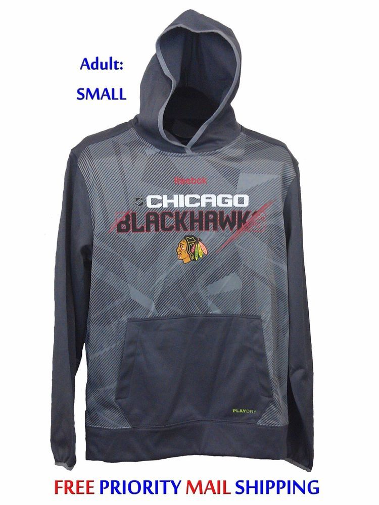 9f33b14c8 Chicago Blackhawks Reebok Center Ice TNT Fleece Hoodie Adult SMALL NEW NWT   90R  Reebok  ChicagoBlackhawks