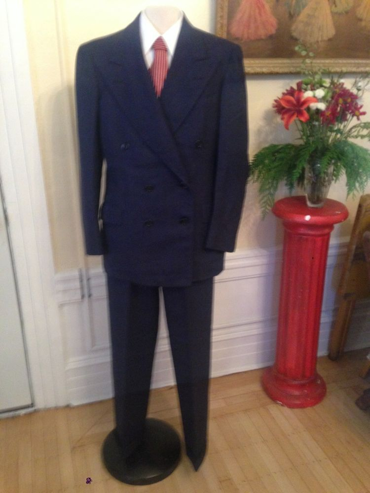 $50 http://www.ebay.com/itm/Beautiful-Mens-Vintage-30s-40s-Dark-Blue-Pinstripe-Suit-Boardwalk-Empire-50s-/131085648161