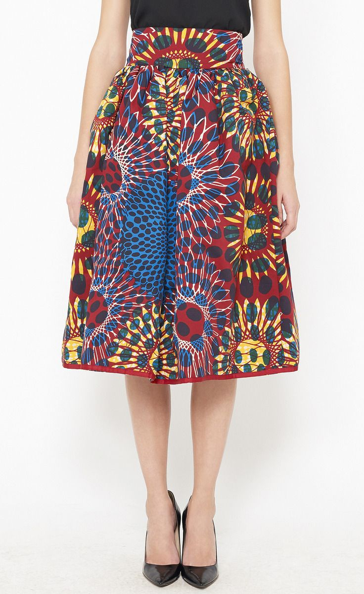 Stella Jean Red, Blue And Multicolor Skirt