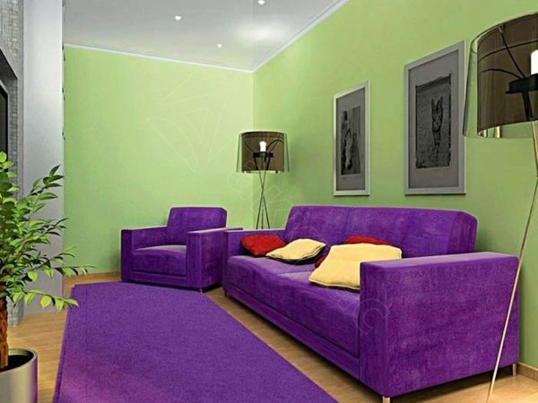 d coration violet decoration salon violet salon accent vert violet d co int rieur pourpre. Black Bedroom Furniture Sets. Home Design Ideas