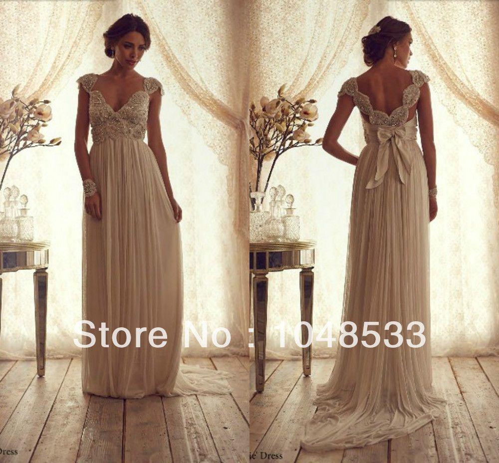 Maternity wedding dress with sleeves  Cheap Elegant cap sleeves beaded floor length chiffon maternity