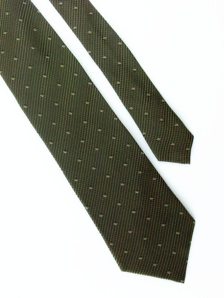 cf0b90ae469c Green Tie Old River 100% Silk, dark, seaweed, moss, olive, dots, business  #OldRiver #Tie