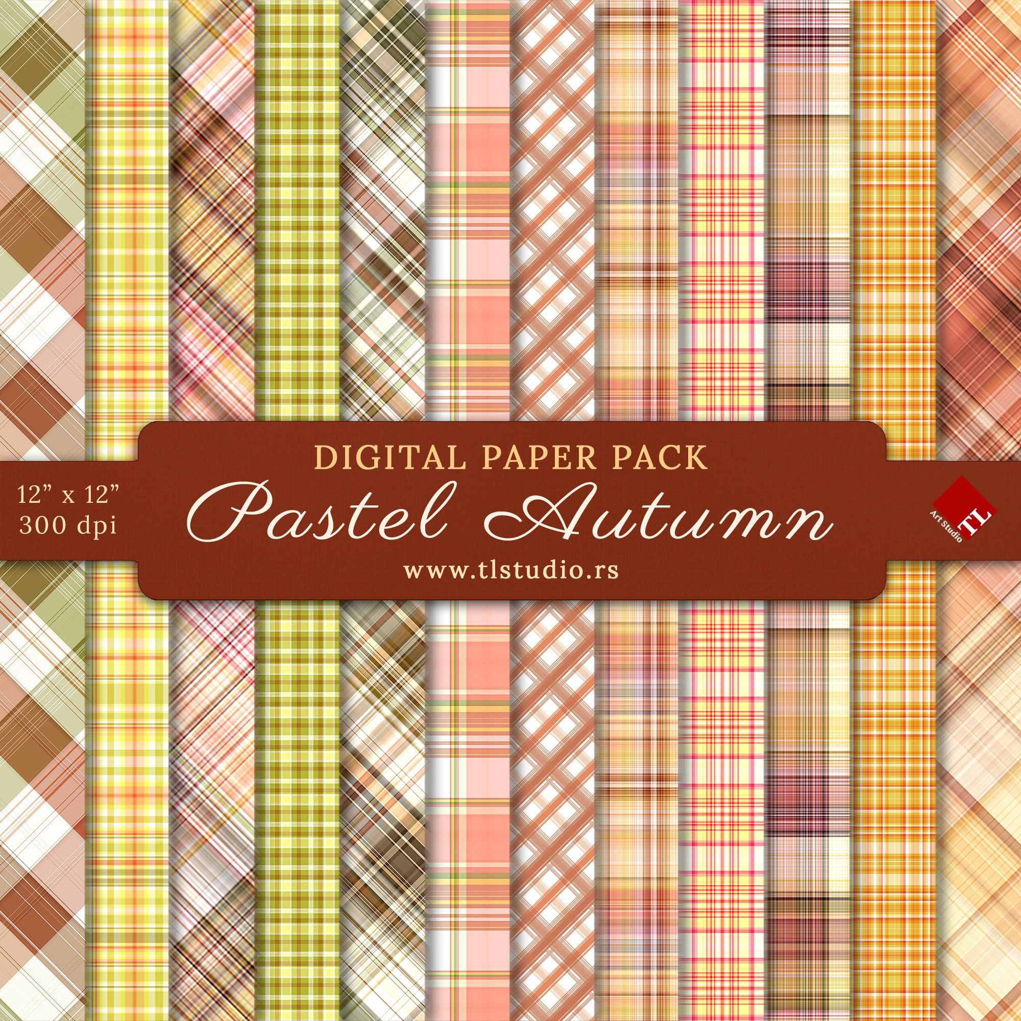 19+ Vintage Autumn Digital Papers PNG
