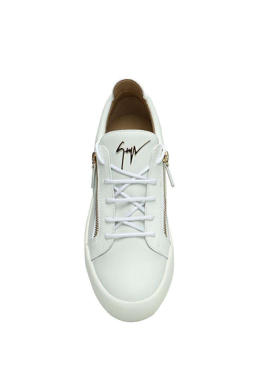 Giuseppe Zanotti Beyaz Altin Kadin Nicki Beyaz Gold Kadin Deri Sneaker 572530 Beymen Sneaker Giuseppe Zanotti Kadin