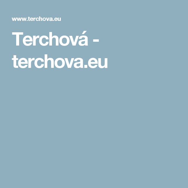 Terchova.eu (With Images