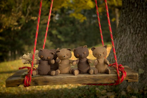 Chocolate brown loving toy cute teddy gift by AbbuToys
