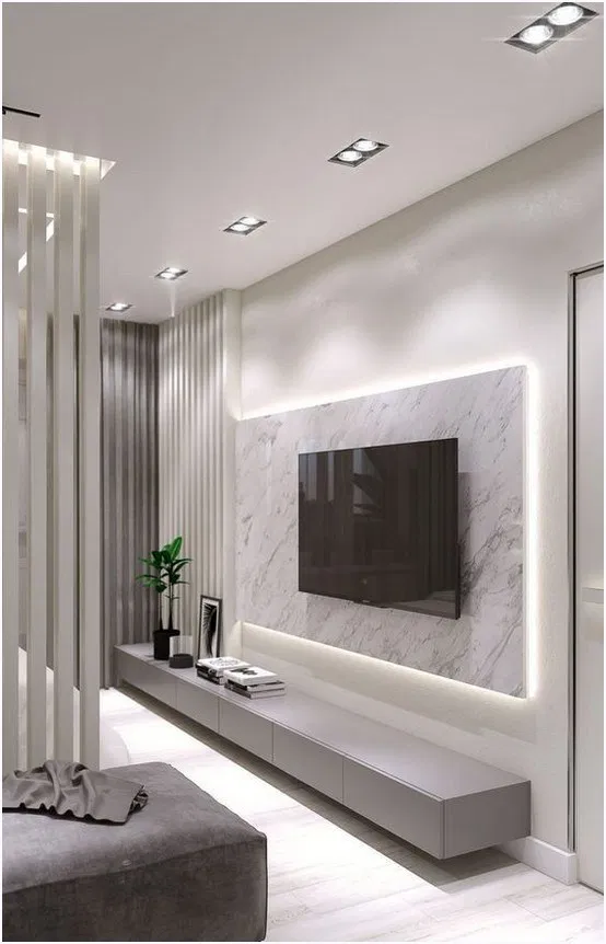 36 Amazing Tv Wall Design Ideas For Living Room Decor Amazingtvwall Tvwalldesign Livingroo Living Room Design Modern Tv Room Design Living Room Wall Designs