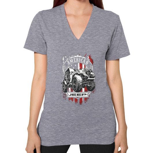 AMERICAN JEEP V-Neck (on woman)