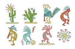 Kokopelli Set - 4x4 | Featured Products | Machine Embroidery Designs | SWAKembroidery.com