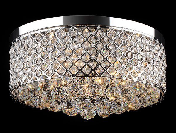 Zyrandol Krysztalowy Campanelli Chrom Plafon Ceiling Lights Chandelier Decor