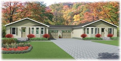 Duplex modular home price per sq ft for Modular duplex prices