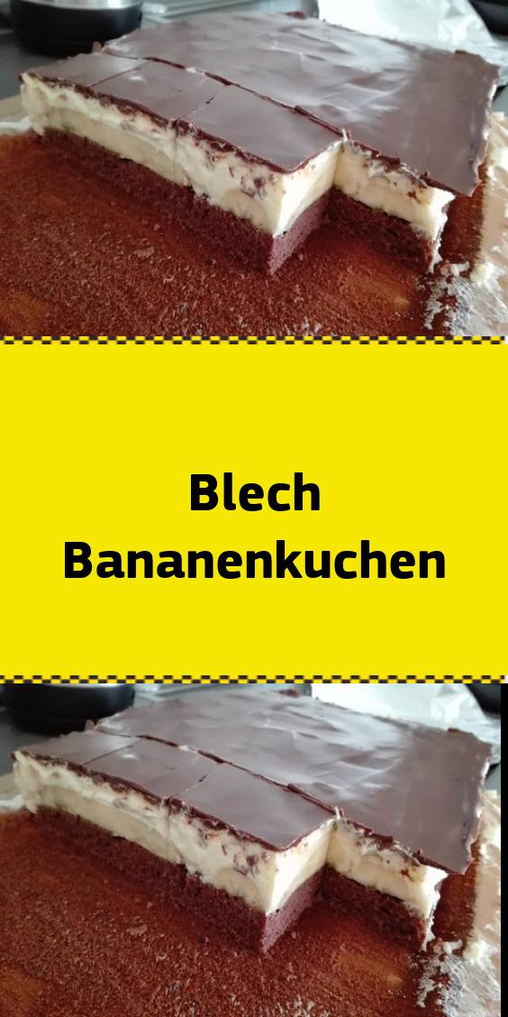 Blech Bananenkuchen #schnelletortenrezepte