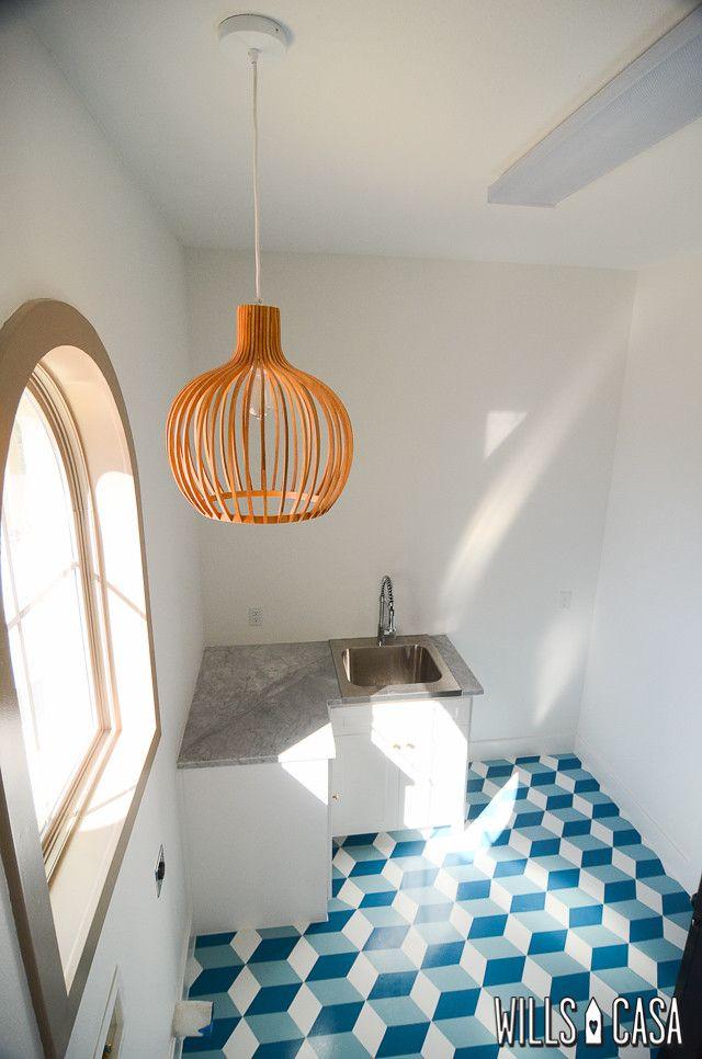 How to Paint Concrete Floors: Geometric Style - Wills Casa ...