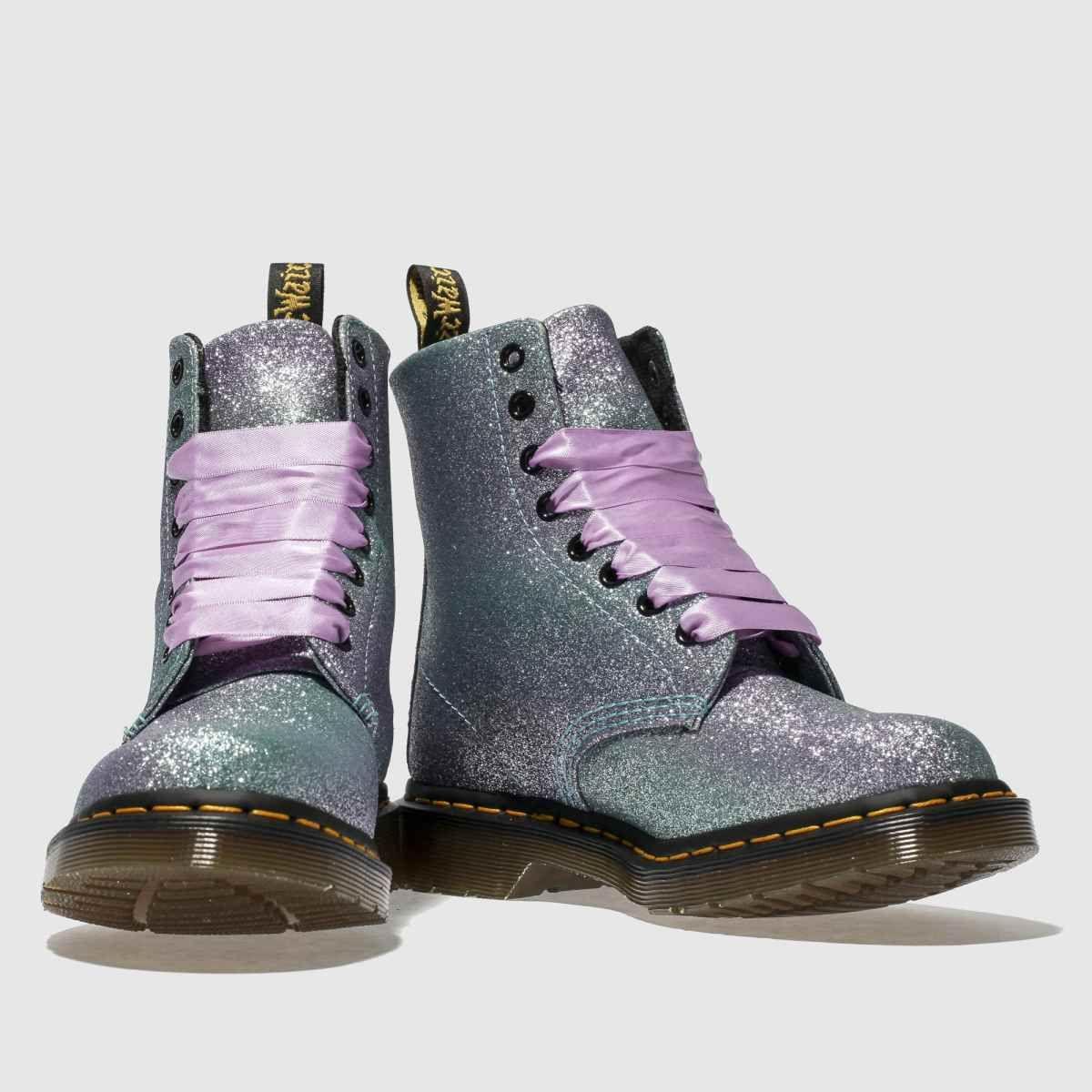 lilac pascal 8 eye glitter boots