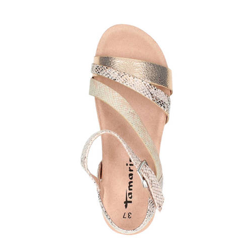 Tamaris sandalen met slangenprint Slangenprint, Sandalen