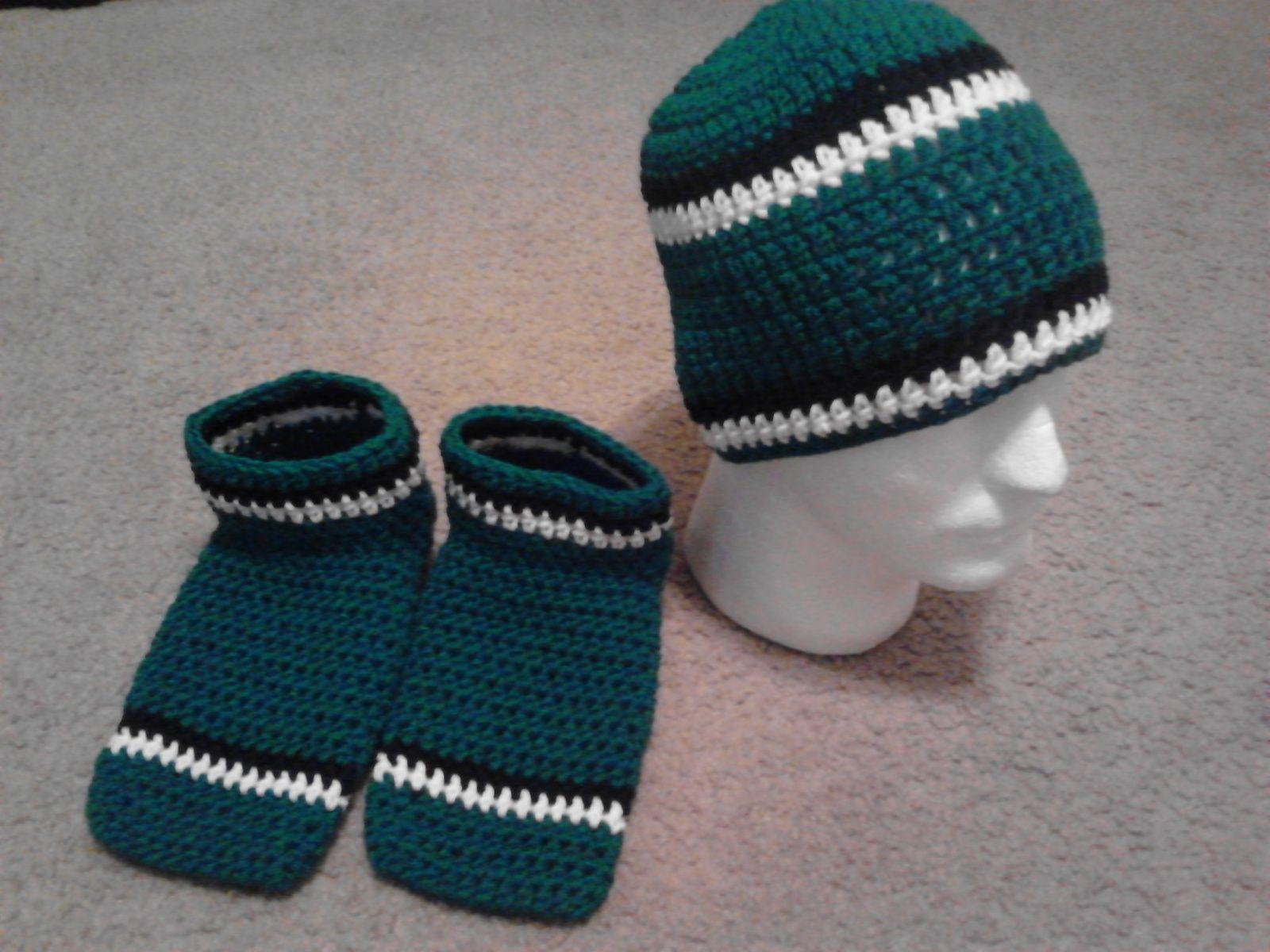 1c40d462cb955 Philadelphia Eagles Team Colors Crochet Set