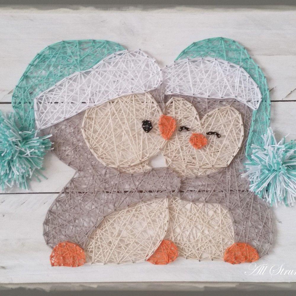 cuddle penguins string art patrice