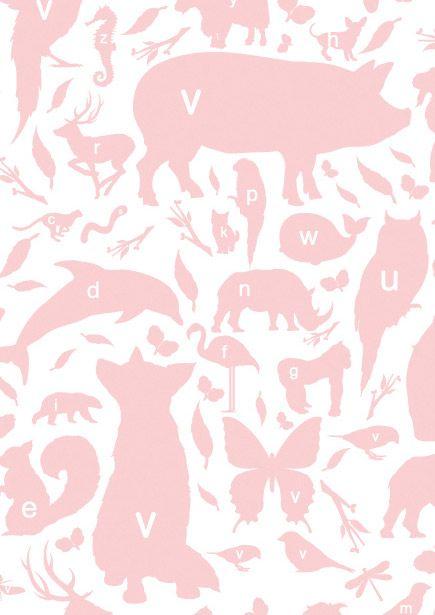 Vliesbehang beestjes letters roze dit vrolijke vliesbehang for Wat is vliesbehang