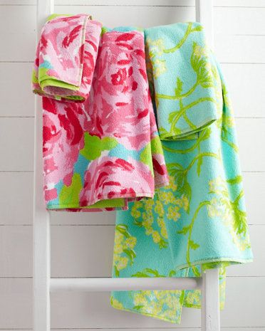 Lilly Pulitzer 174 Sister Florals Towels If Only I Was Still
