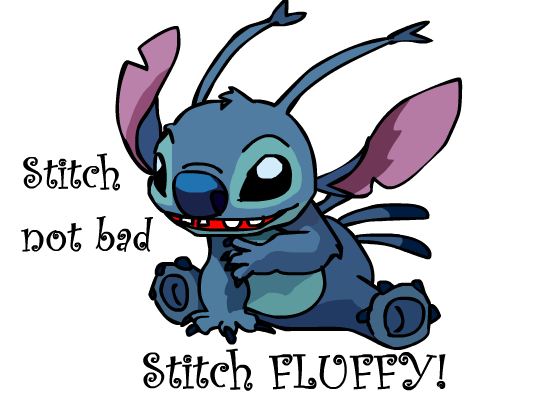 Image result for stitch not bad stitch fluffy