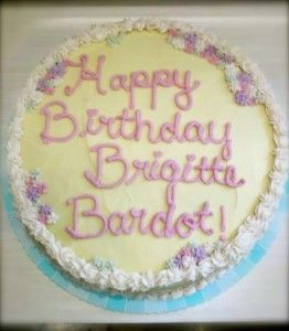 Babycakes NYC Vegan Bakery Baked Ms Bardot A Beautiful Birthday Cake So Local Folks In Los Angeles Could Celebrate Also Specializes