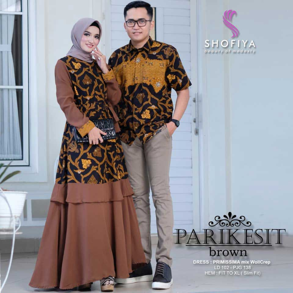 Model Baju Batik Couple Gamis Seri Parikesit in 12