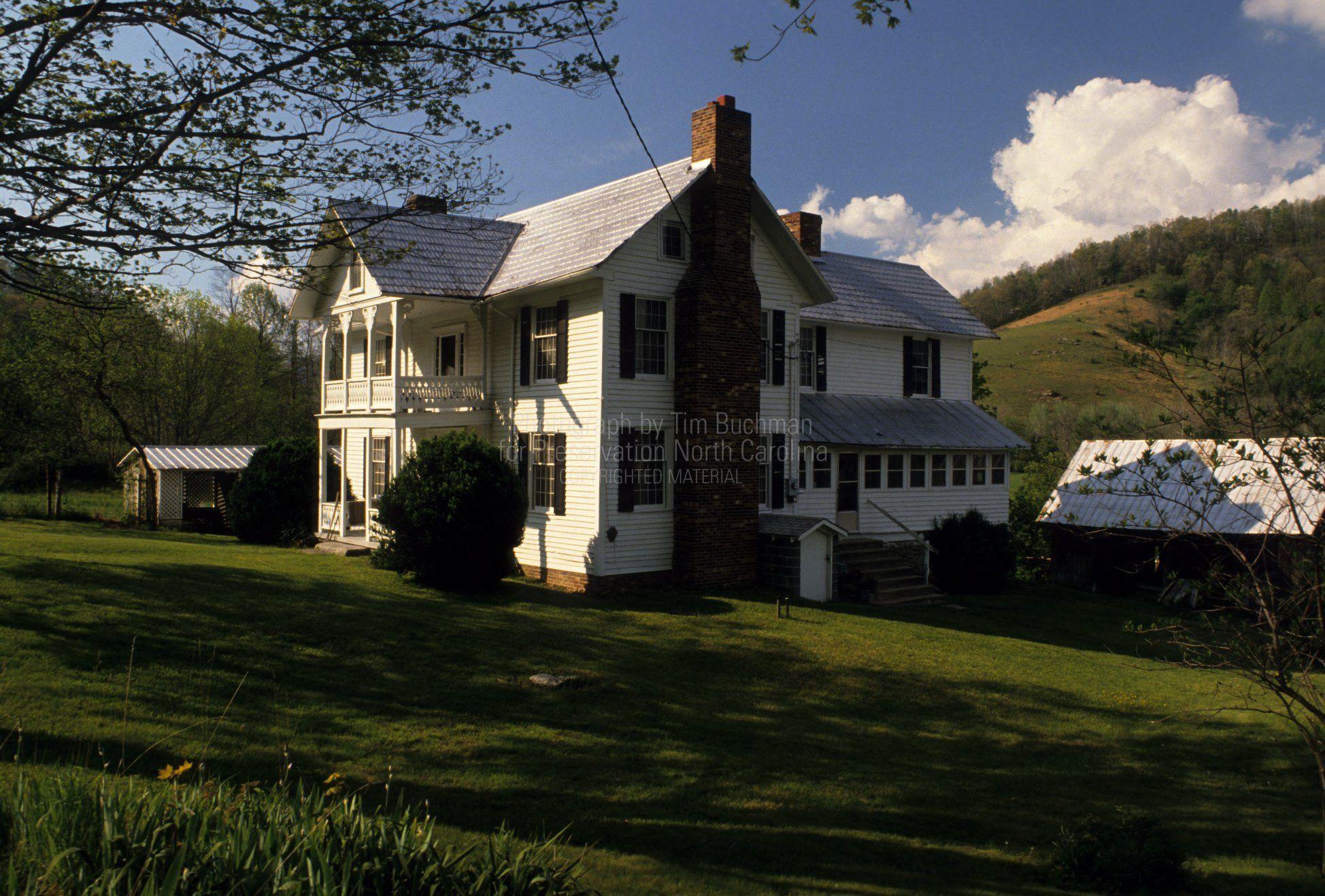 farmhouse elevation  baird farm  valle crucis  north carolina