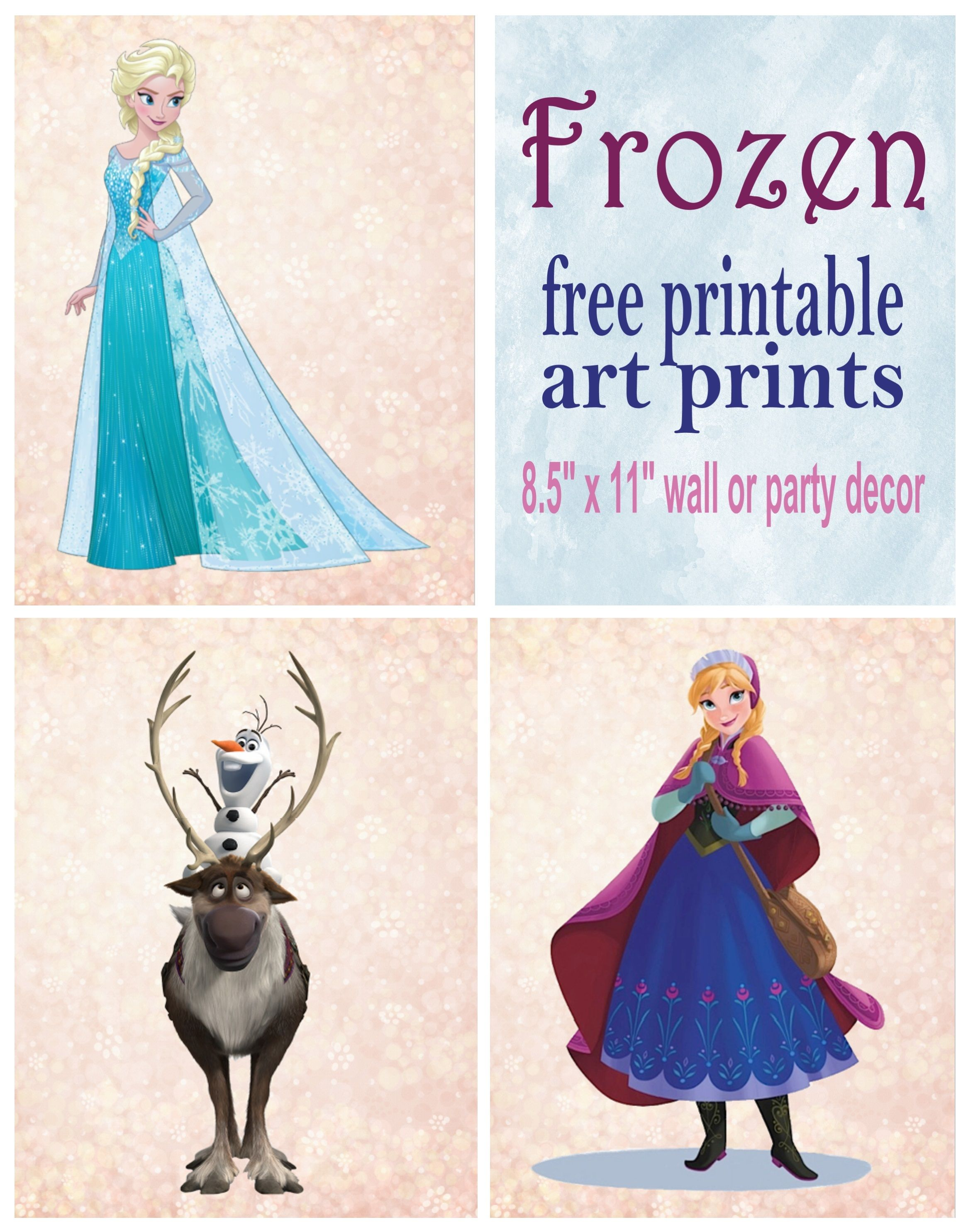 - Frozen Printable Wall Art Decor (With Images) Frozen Wall Art
