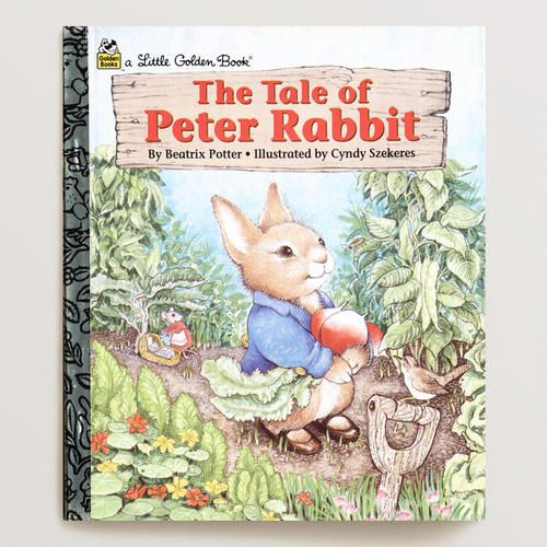 Easter Basket Fills--  One of my favorite discoveries at WorldMarket.com: The Tale of Peter Rabbit, a Little Golden Book