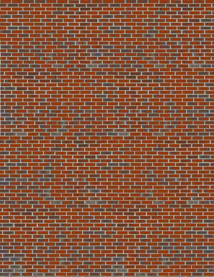 Red Brick Paper Maquette Papier Maisons De Papier Et