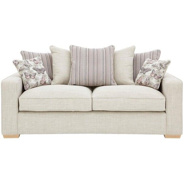 Sarina 3-Seater Fabric Sofa (£599) ❤ liked on Polyvore featuring ...