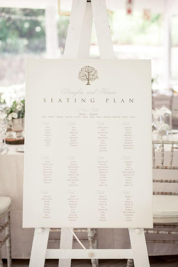 #seating-chart  Photography: Tasha Seccombe - tashaseccombe.com Floral + Event Design + Planning: 4 Every Event - 4everyevent.co.za/  Read More: http://www.stylemepretty.com/2013/05/01/south-africia-wedding-from-tasha-seccombe/