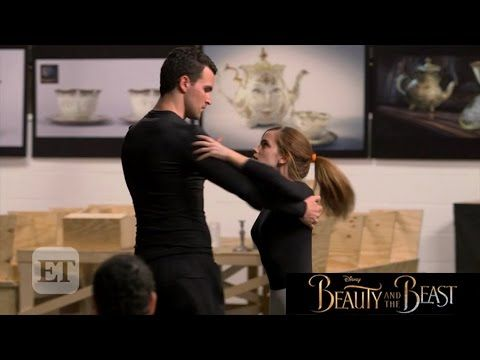 Beauty And The Beast Emma Watson Practices Ballroom Dance At