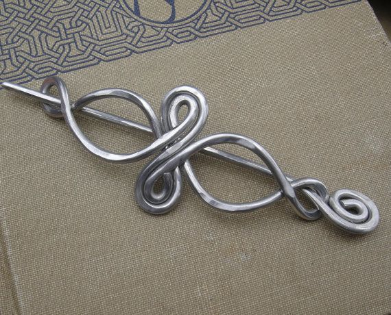 Celtic Infinity Loops Aluminum Shawl Pin, Hair Pin, Hair Slide ...