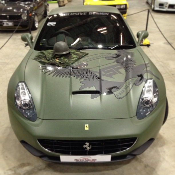 Ferrari California With Military Paint Job Don T Know If I Would Spend All That Money For The